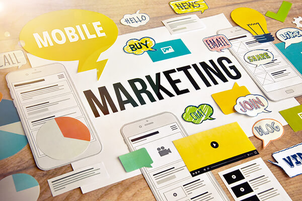 Mobile marketing concept design. Concept for website and mobile