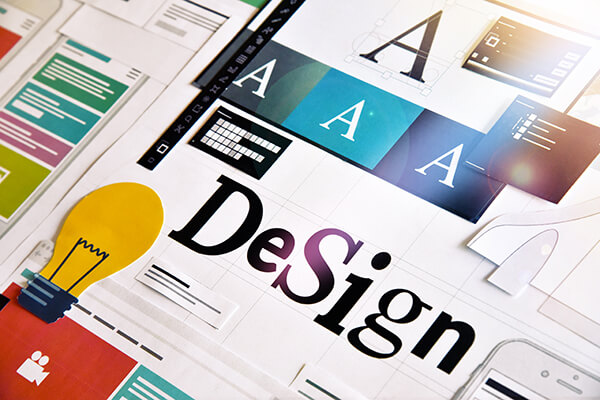 Graphic design. Concept for different categories of design such