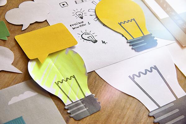 Big idea concept design. Concept for business, marketing, brains